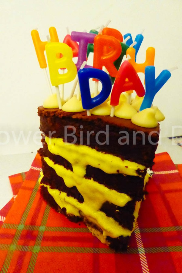 Birthday Beetroot BrownieCake